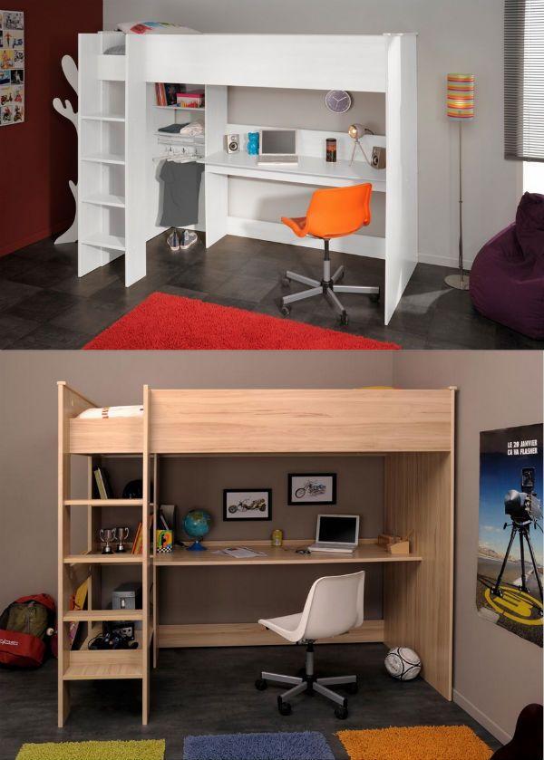 17 best lits enfant images on pinterest child room 3 4 beds and lofted beds. Black Bedroom Furniture Sets. Home Design Ideas