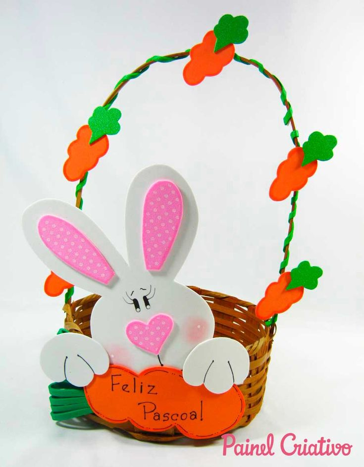 como fazer cesta pascoa coelhinho eva decorada (4)