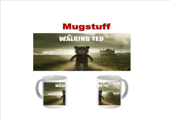 Picture Mug which can be Personalised The Walking Ted by Mugstuff, £5.00