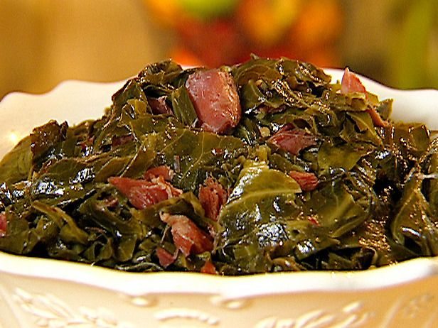 Collard Greens  http://www.foodnetwork.com/recipes/sandra-lee/collard-greens-recipe/index.html