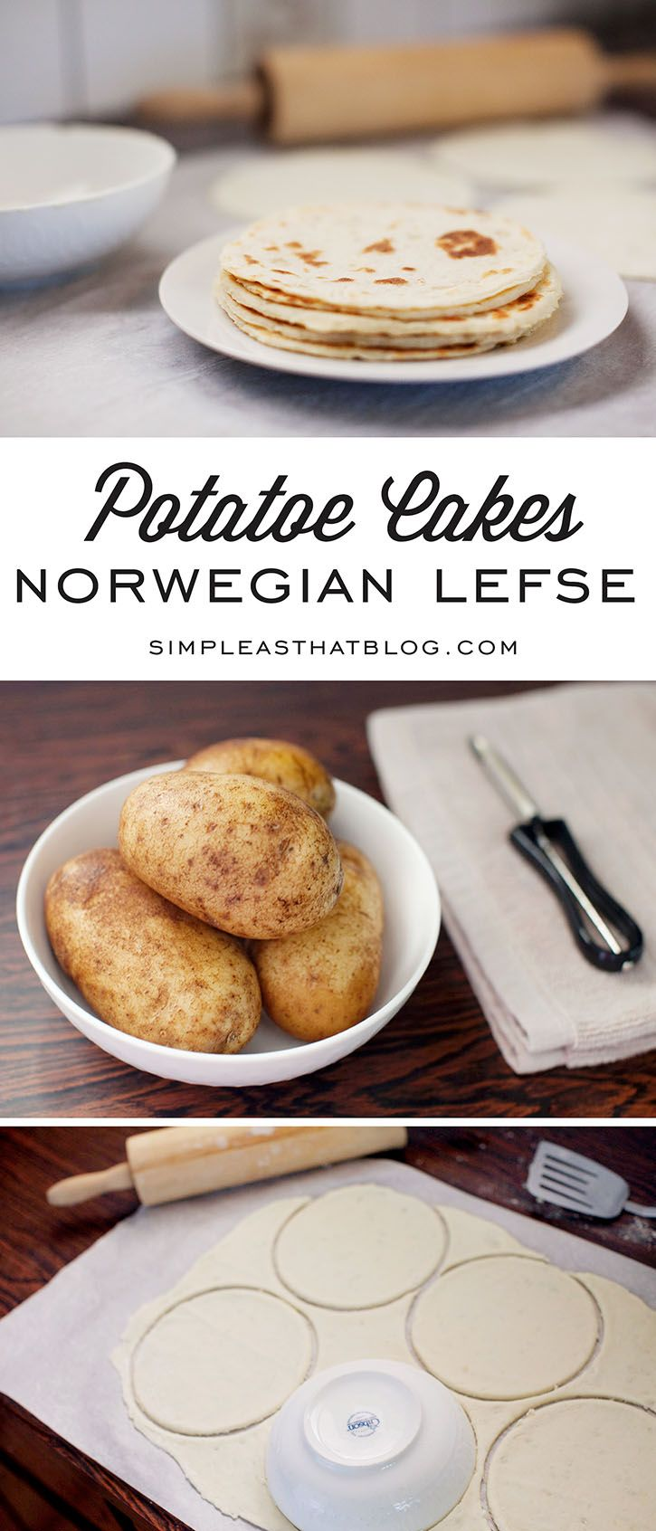 We've enjoyed this traditional Norwegian Lefse or Potatoe Cakes recipe in my family for years! They're simple and delicious and the perfect way to use up those leftover mashed potatoes from Thanksgiving dinner!
