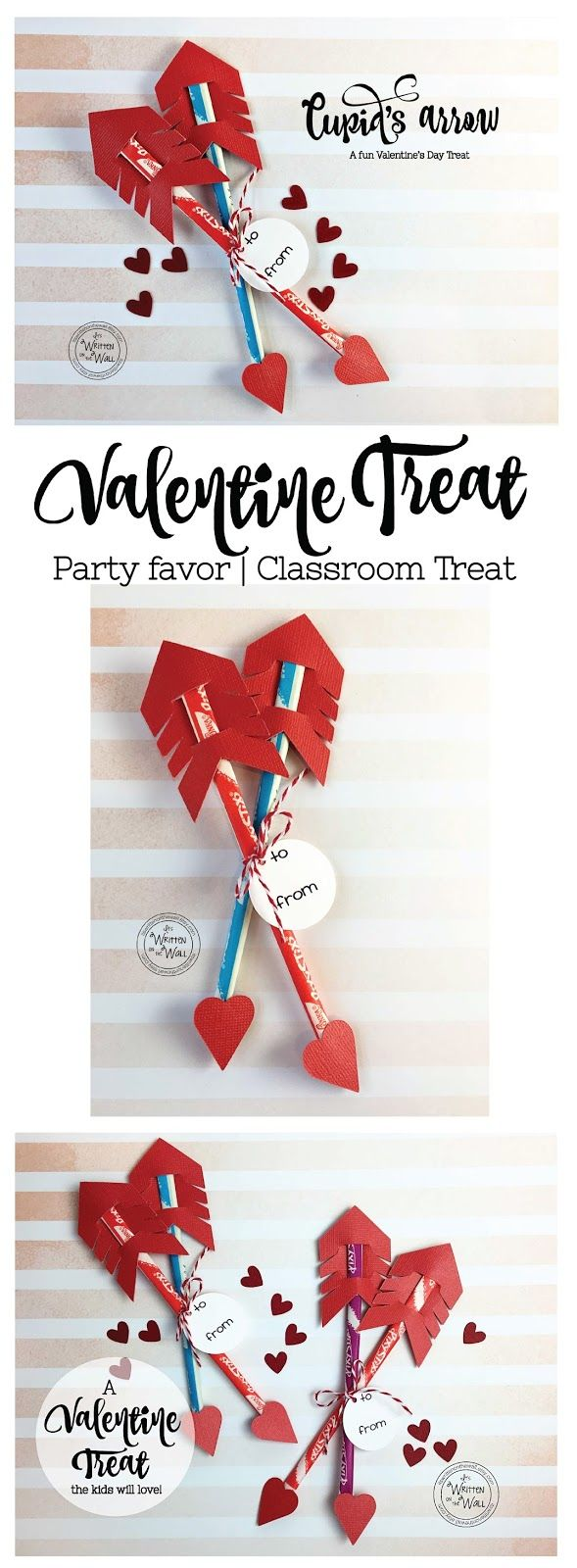 It's Written on the Wall: Valentine's Day Treat-Cupid's Arrow with Pixy Stix Candy-So much fun for Classroom Treats or Party Favors