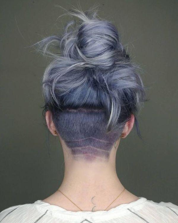 Women Undercut Hairstyles Frisur Undercut Frisuren Und Frisuren