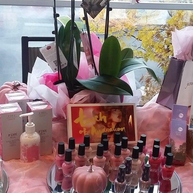 Pink products & pumpkins at our booth today for @mshospital Celebration of Hope benefiting breast cancer research #thinkpink #pink #opinailpolish @janeiredale #janeiredalemakeup #farmhousefresh #eforeamarkham #hiltonmarkham #markham #markhamspa #spamarkham #spaunionville #pinkpumpkins #pinkmoon #pinknailpolish