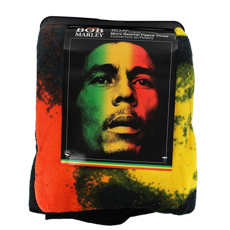 Just Funky Bob Marley Rasta 45x60 Fleece Throw Blanket - Multi