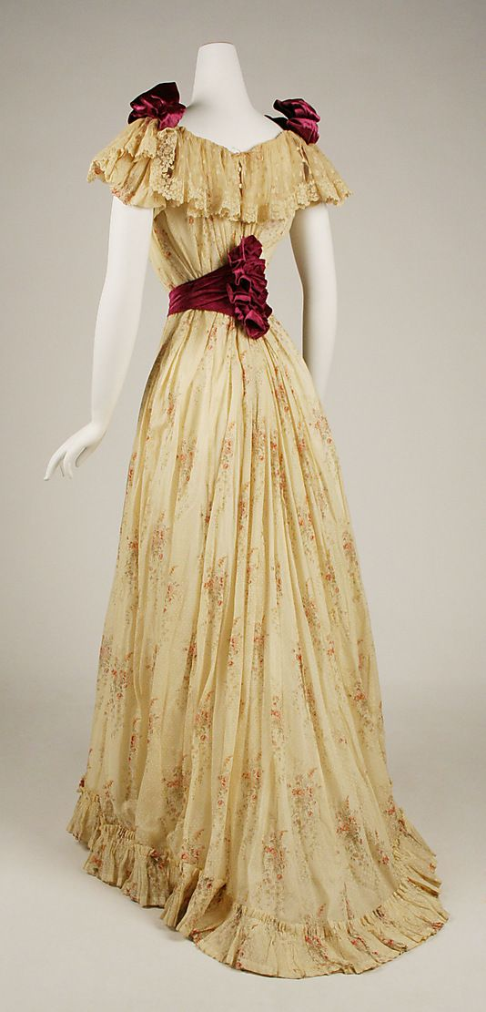 Dress  Date: 1891–92 Culture: American Medium: cotton, silk