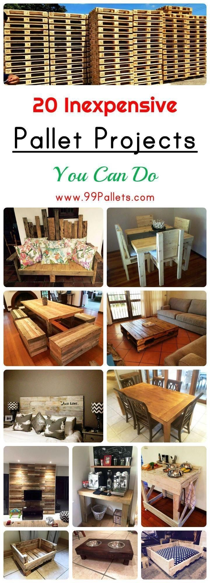 Diy pallet sofa with table 99 pallets - 20 Inexpensive Pallet Projects You Can Do Wood Palletspallet