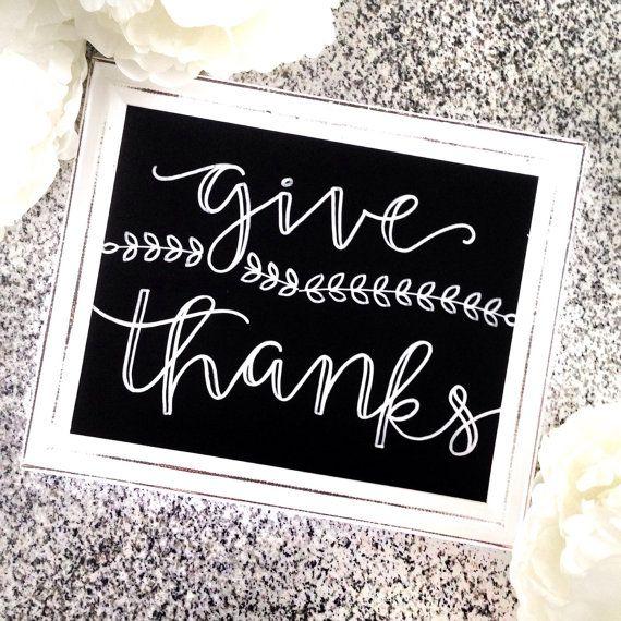 Thanksgiving Hand Lettered Chalkboard