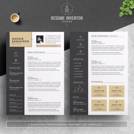 Professional Resume Template Resume Template Professional Resume Template Etsy Resume Template