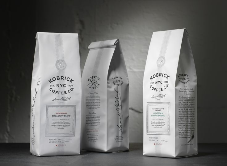 Sandstrom produced a new identity for Kobrick along with packaging for more than 30 specialty blends, espressos and single-origin coffees. Description from packagingoftheworld.com. I searched for this on bing.com/images