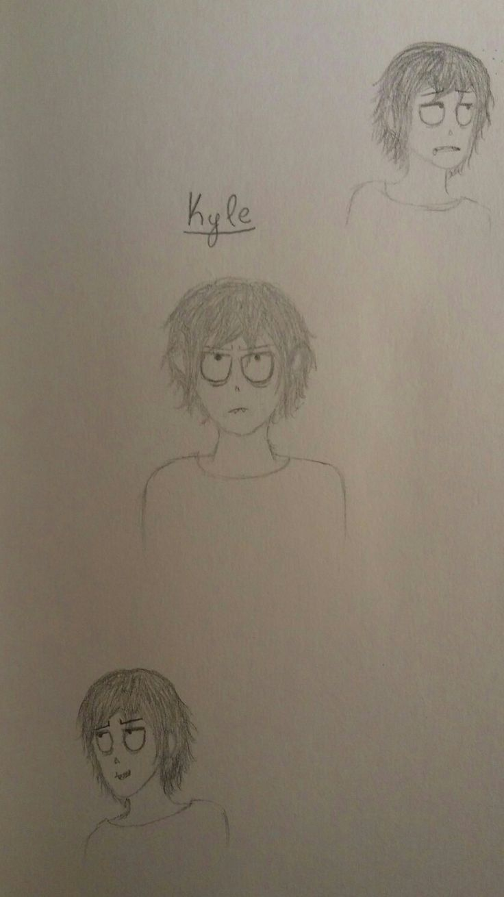 My new OC Kyle. He's so tired all the time and 10000% done with everything and an asshole but I still love him