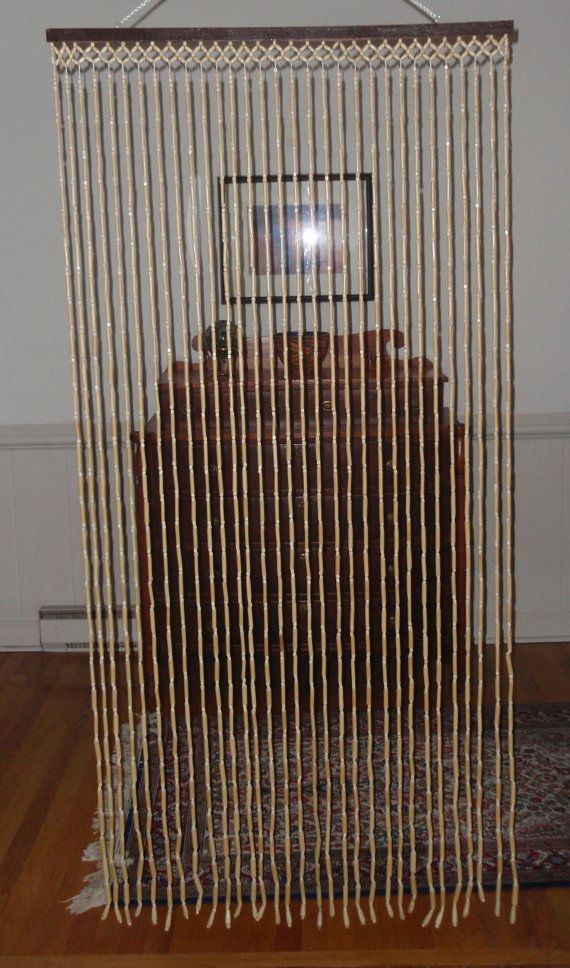 Bamboo and Wood Beaded Door Curtain. Light by DragonflyGypsySoul, $40.00