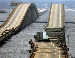 Bay Bridge Pensacola Fl after Hurrican Ivan