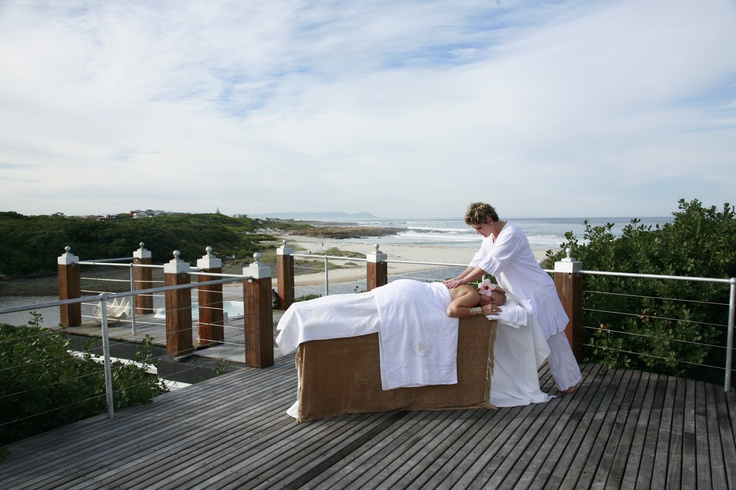 At the Beachfront - having a massage on this winters morning! Romance and luxury!