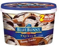 Premium Ice Cream  Bunny Tracks®  Might be the best IC flavor ever made....