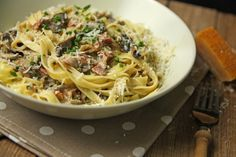 Nudeln in Speck-Pilzcreme :: Melierecipes