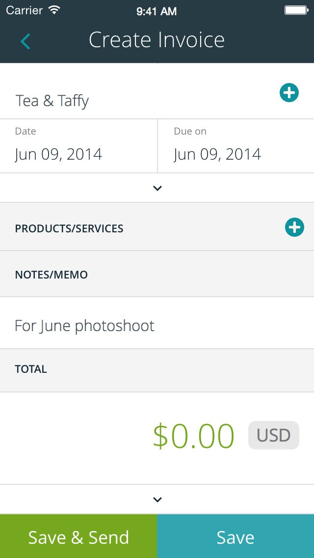 Invoicing reports are part of the free iPhone app Use It - create and invoice