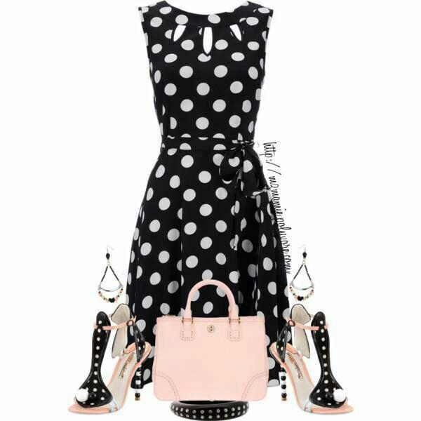 vestido negro de bolitas vanity pinterest