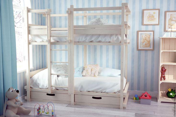 """Купить Детская двухъярусная кровать """"Альто-М"""" серии """"Монблан"""" - детская комната, детская"""