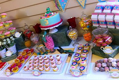 Dorothy The Dinosaur Tea Party - with Baking Passion cake