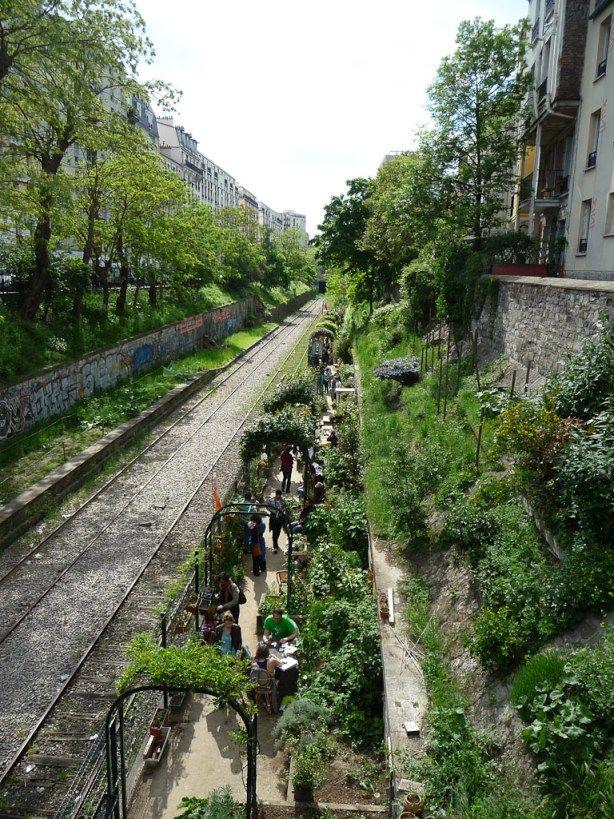 Les jardins du Ruisseau, Paris 18e (75), 12 mai 2012, photo Alain Delavie