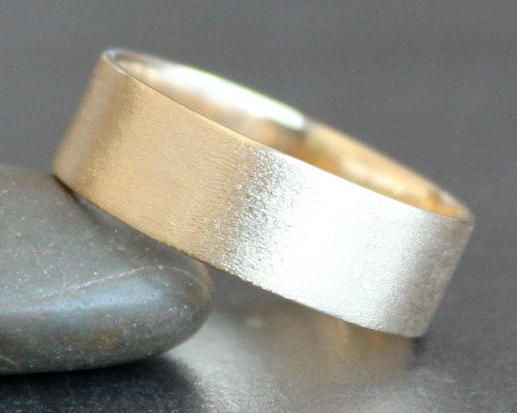 10K Solid Gold Ring  7mm Rectangle Band  by sweetolivejewelry
