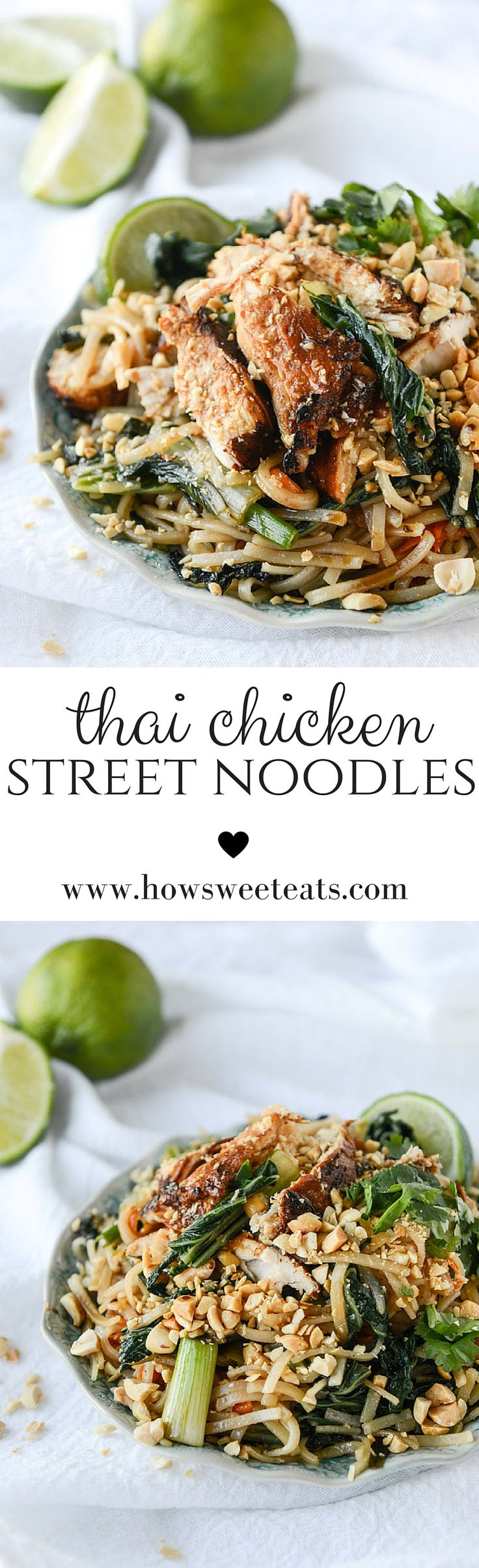 Thai Chicken Street Noodles by @howsweeteats I howsweeteats.com
