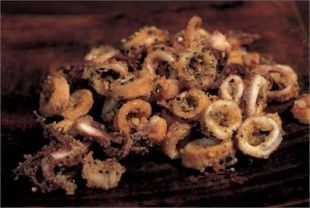 fried crispy spicy squid