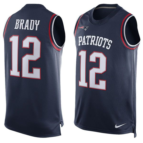 new york tom brady patriots navy player name number tank top nfl jersey pinterest .