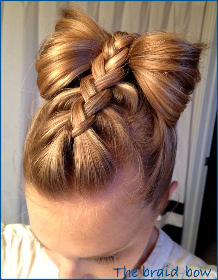 The braid-bow by #thebeautysnoop #hairideas #braids