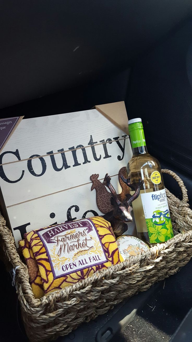 Ross stores gift basket made for a friend (minus the wine!)