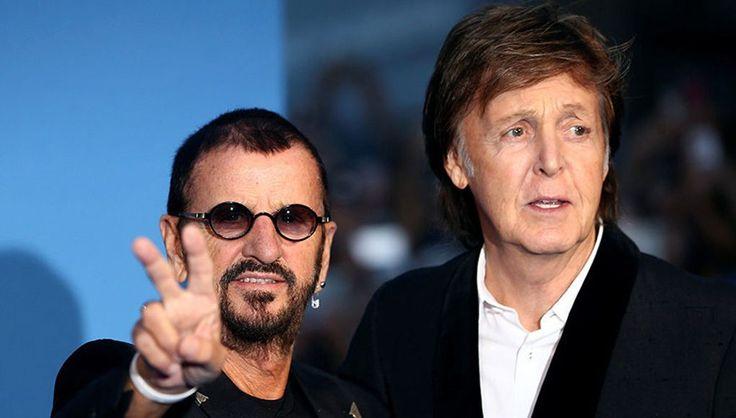 Пол Маккартни и Ринго Старр посетили премьеру фильма The Beatles…