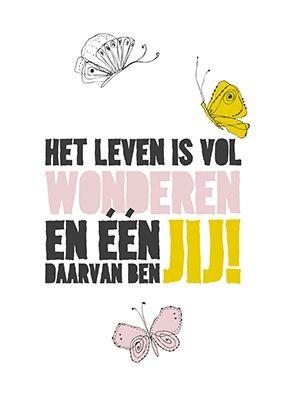 Poster 'Het leven is vol wonderen'