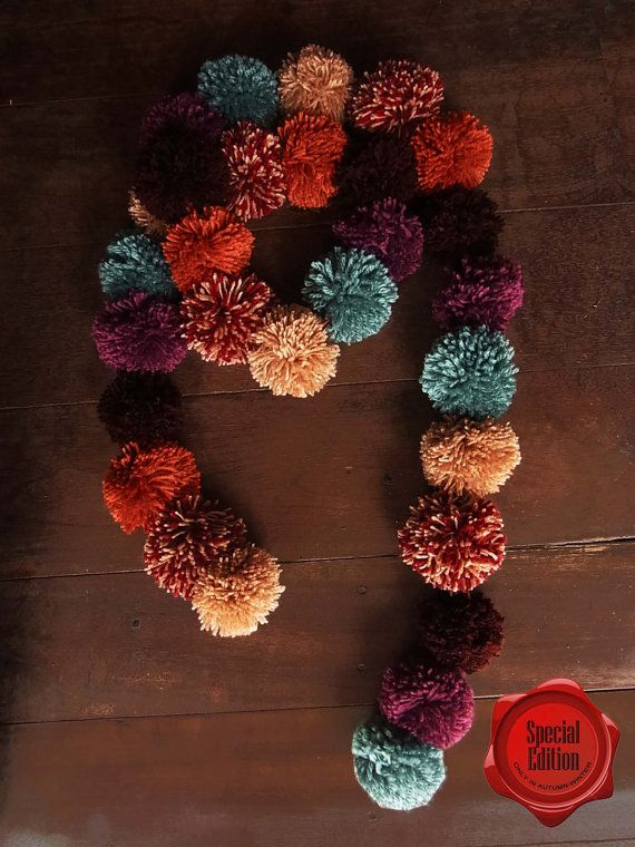 Pom pom scarf - a cute idea