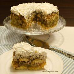 Elmalı Pasta (Kedi dili bisküvili)