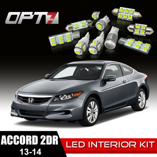 12pc Interior LED Replacement Light Bulbs Package Set For 13 14 Honda Accord 2dr