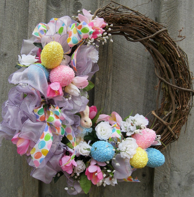 Easter Wreath Spring Wreath Easter Bunny Egg By