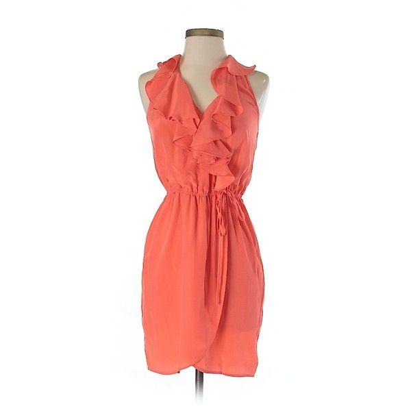 Charlie Jade Casual Dress ($38) ❤ liked on Polyvore featuring dresses, coral, red dresses, charlie jade and charlie jade dresses