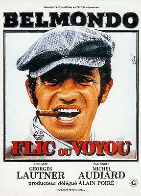 affiche film jean-paul belmondo - flic ou voyou