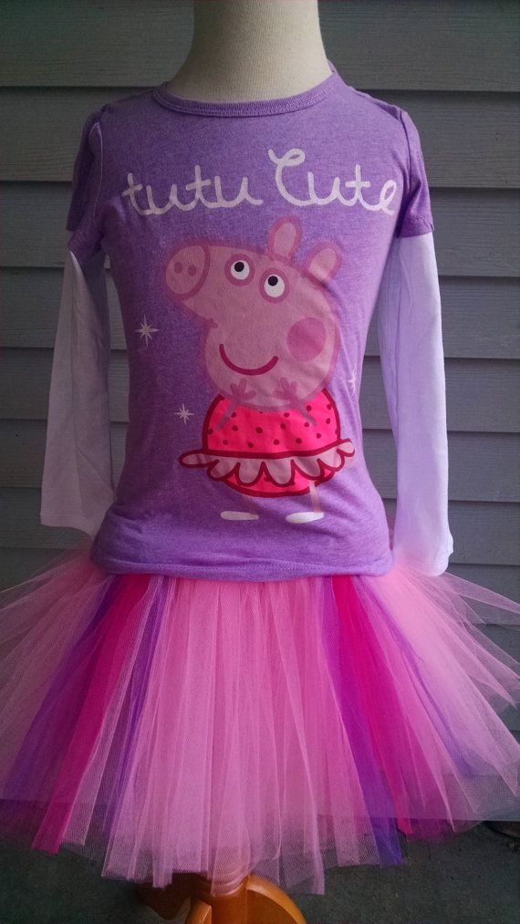 Peppa Pig Tutu Outfit QUANTITIES LIMITED - Peppa Pig Birthday Outfit- Peppa Pig Halloween Costume - Peppa Pig Tutu - Toddler Peppa Pig