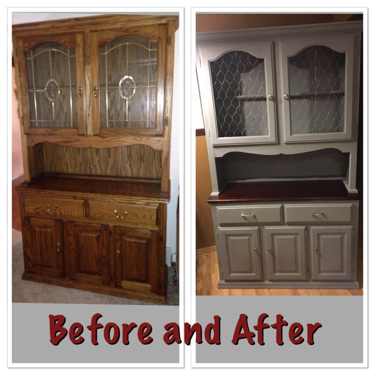 Diy Refinished And Painted Cabinet Reviews: Facelift Of My Old Oak Hutch Using Annie Sloan Chalk Paint
