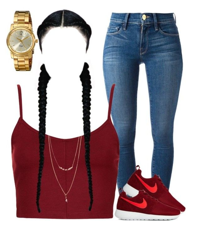 Untitled by myra-moore on Polyvore featuring polyvore, fashion, style,  Topshop, Frame Denim, NIKE, Invicta and Forever 21