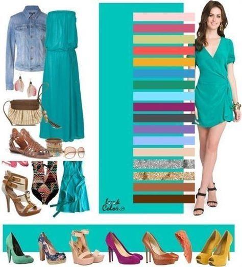 Зеленые туфли с каким цветом сочетаются