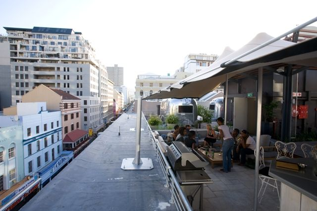 View from rooftop Grand Daddy Hotel Cape Town Centre