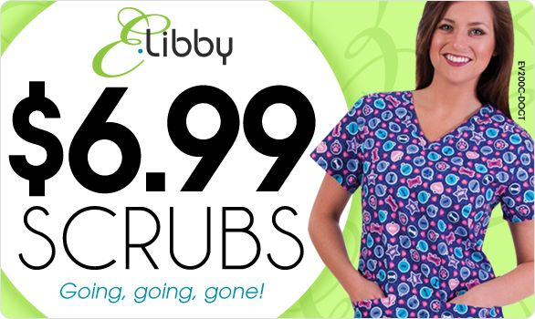 Seriously great deal! E. Libby Clearance Scrubs! These are high quality at a low price.