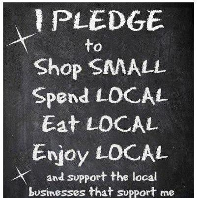 Pledge to shop, spend, eat, and enjoy locally