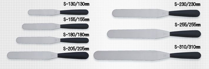 包丁のトギノン パン・ケーキ用包丁・用具 :黒プラ柄スパチュラ/ストレートS-310 (パレットナイフ)