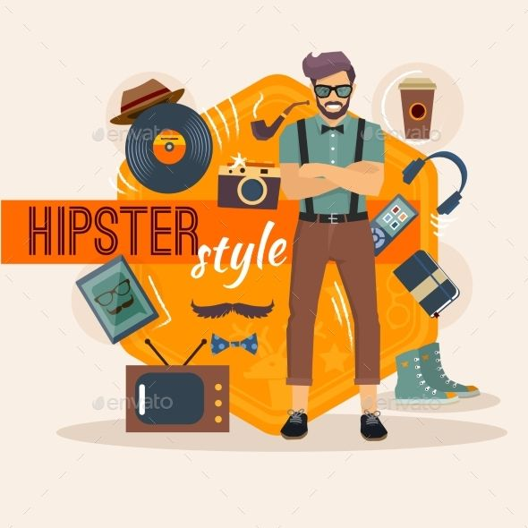 Male Hipster Character Pack