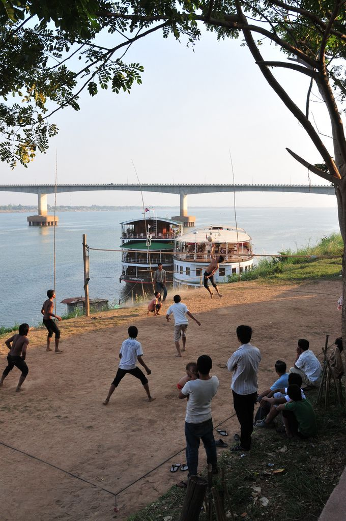 Kampong Cham, Cambodia | Volleyball by the Mekong.