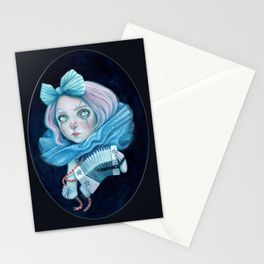 Little Clown with her Concertina Stationery Cards